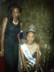 With Miss Cameroon