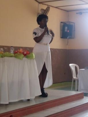 GSandra inspiring the crowd at the Seminar