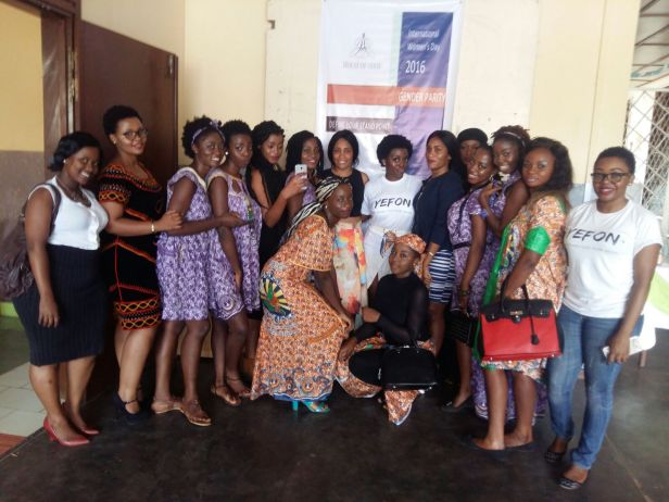 With the female participants
