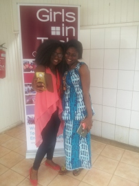 Communication Oga Mrs.Mirielle Ilouga and Comm Intern Nina feeling the Tech Vibe