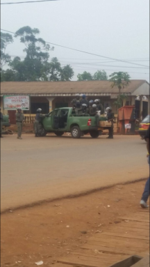 Police raid the area